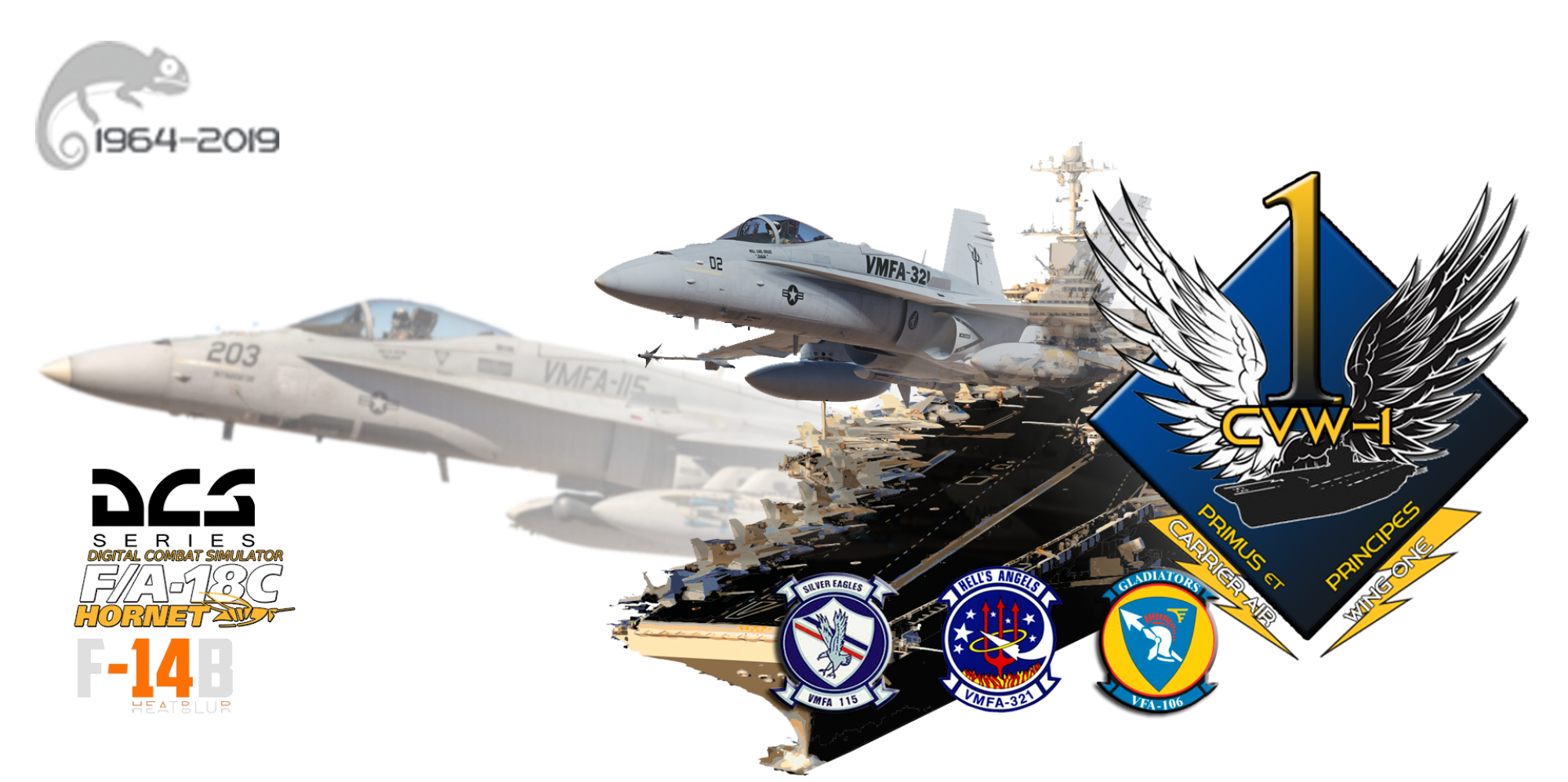 Virtual Carrier Air Wing One  Home of VMFA 115, VMFA 321, and VFA 106